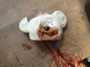 Wiring up ad teddybear (this will look cute eventually).