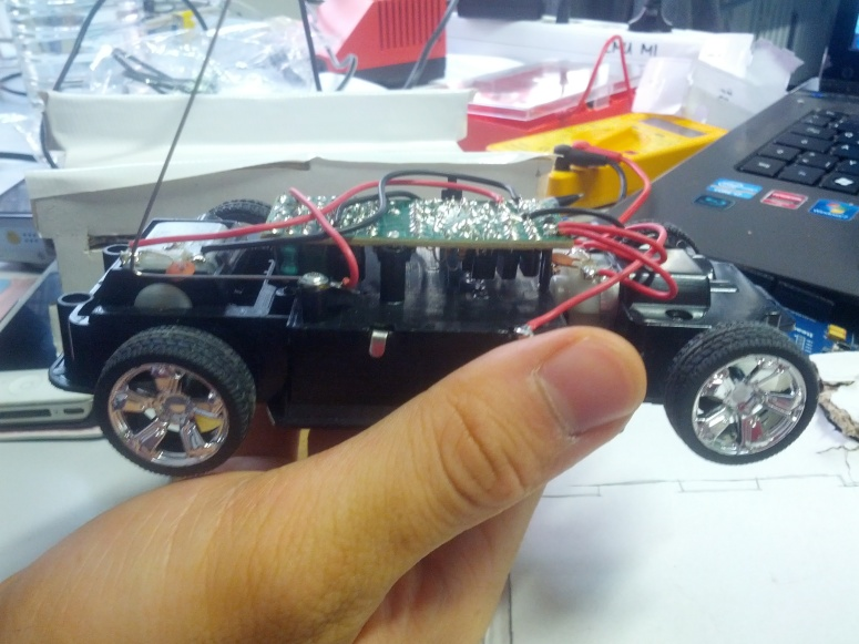 The chassis of the toy car